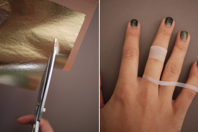 Chic DIY Gold Leaf Faux Jewelry