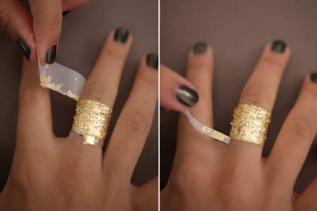 Chic DIY Gold Leaf Faux Jewelry
