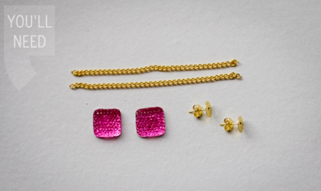 Cool DIY Chain Wrapped Earrings