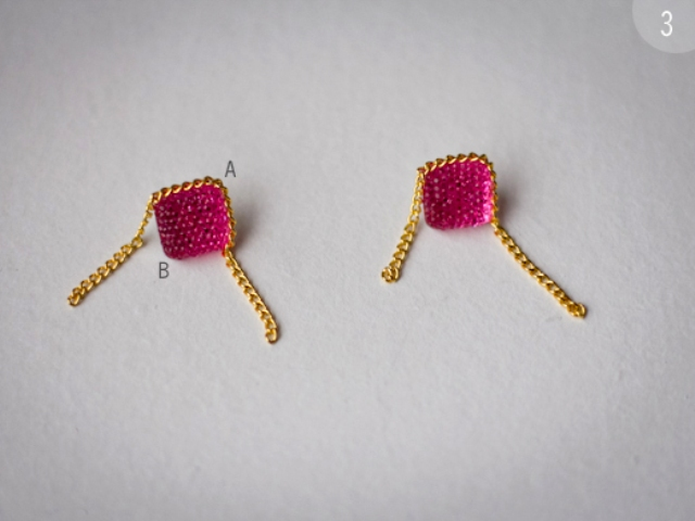 Picture Of Cool DIY Chain Wrapped Earrings 5