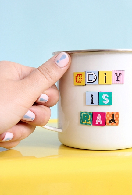 Funny DIY Pastel Exclamations Nail Art