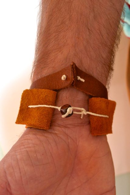 Simple DIY Faux Leather Cuff For Men