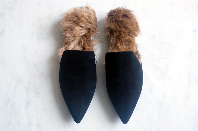 Unique DIY Gucci Inspired Fur Slip Ons