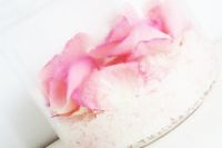 sugar body scrub with rose petals