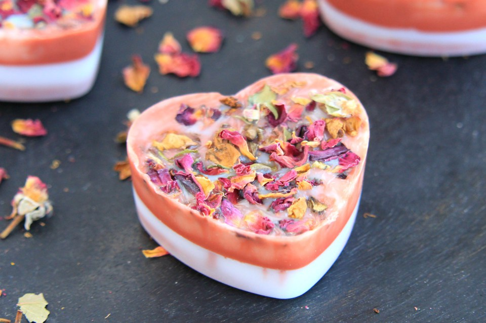 Picture Of diy rose petal soaps with an adorable smell  1