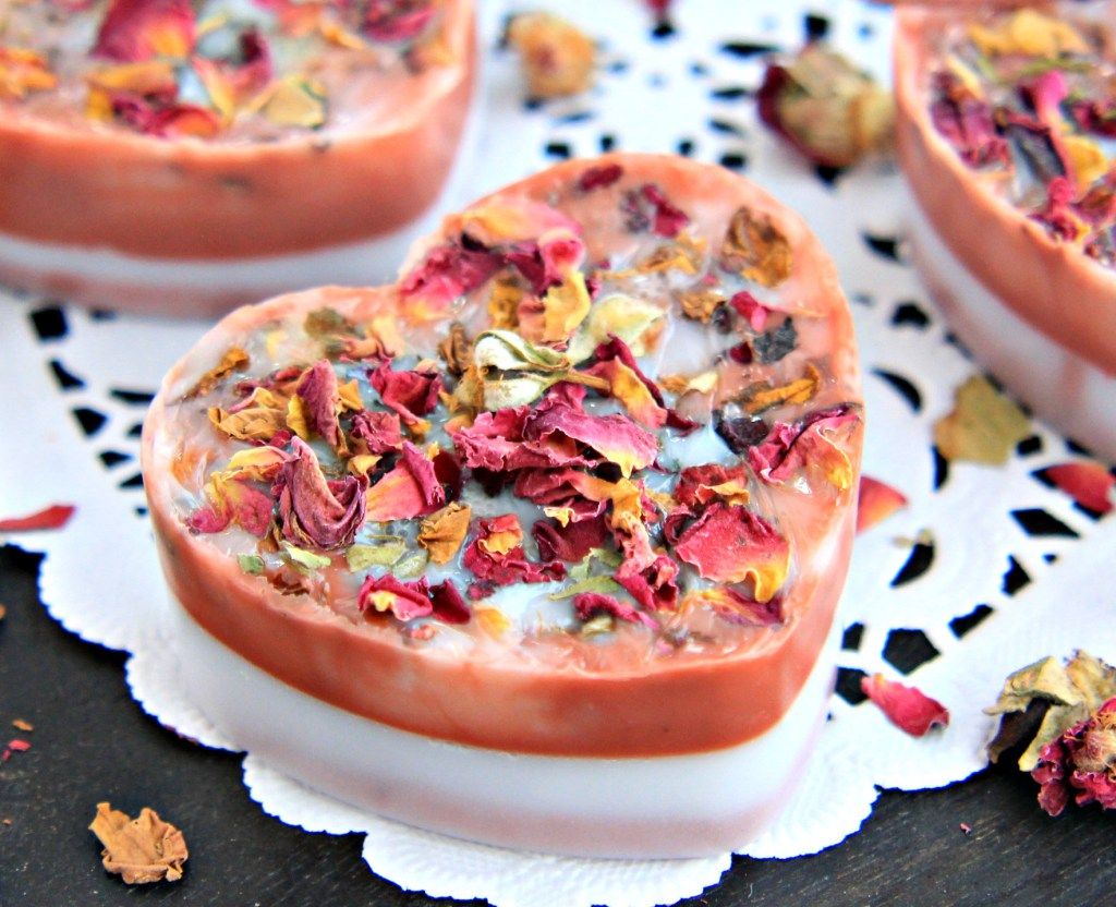 Picture Of diy rose petal soaps with an adorable smell  8