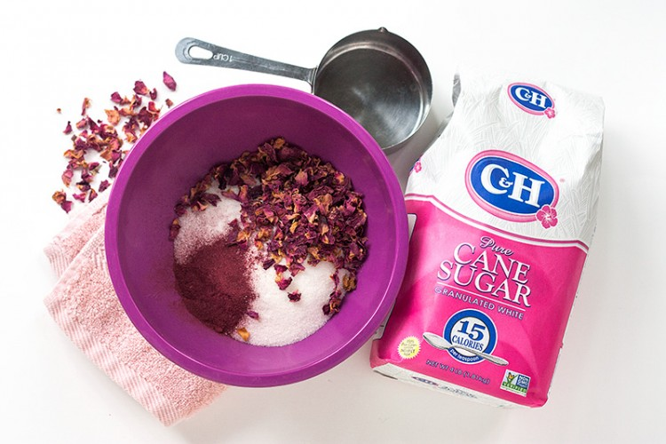 DIY Rose Petals Sugar Body Scrub For Valentine's Day