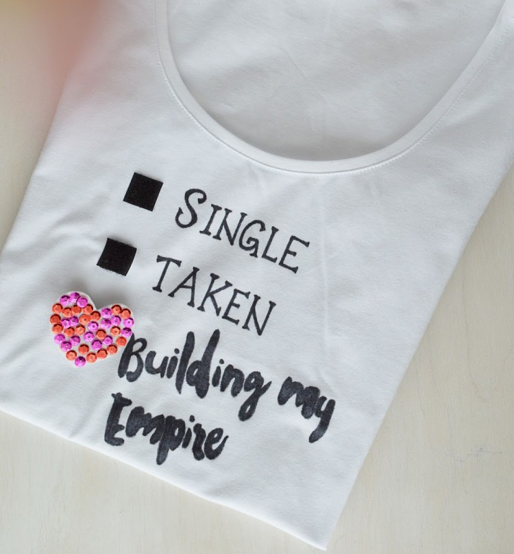 Fun DIY Relationship Status T-Shirt