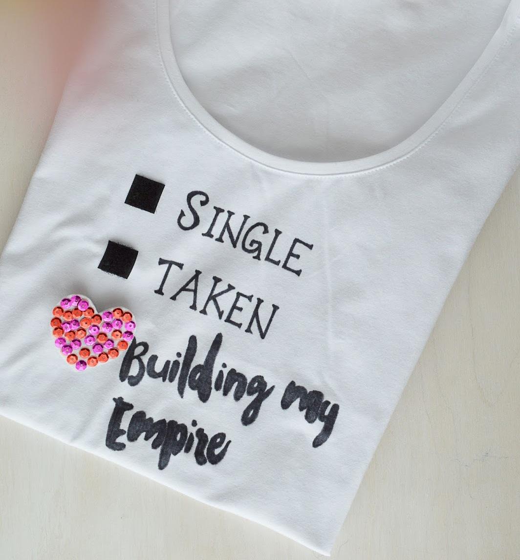 Picture Of fun diy relationship status t shirt  1