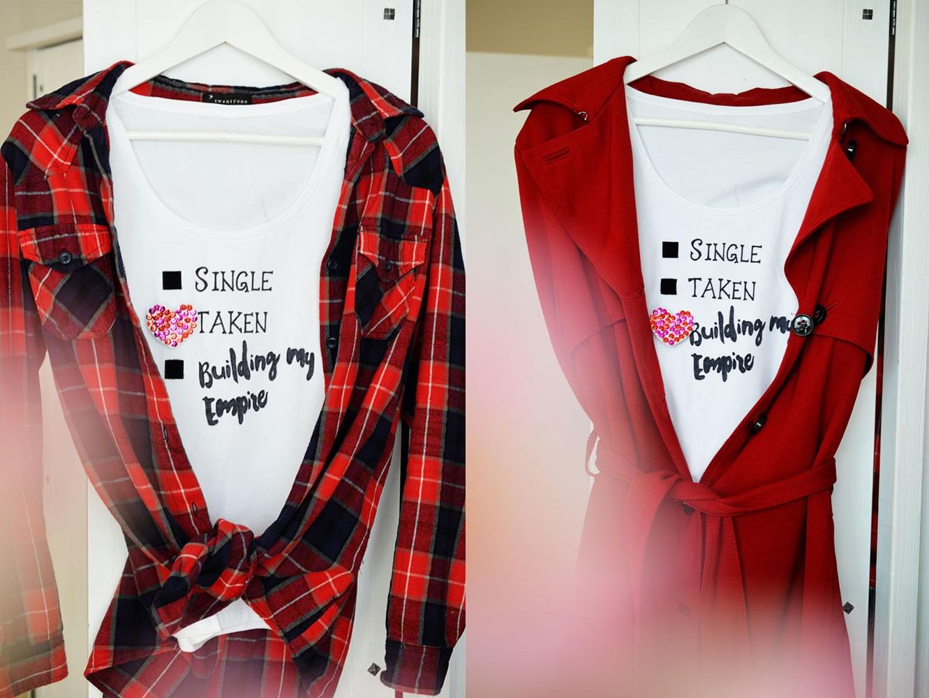 Picture Of fun diy relationship status t shirt  4