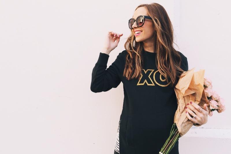 Picture Of joyful diy valentines day glitter xo sweatshirt to make  1