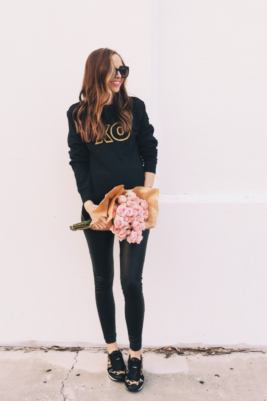 Picture Of joyful diy valentines day glitter xo sweatshirt to make  2