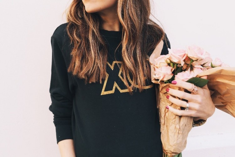 Joyful DIY Valentine's Day Glitter XO Sweatshirt To Make