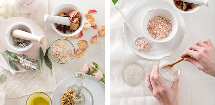 Natural DIY Floral Bath Salts For Amazing Bath Time