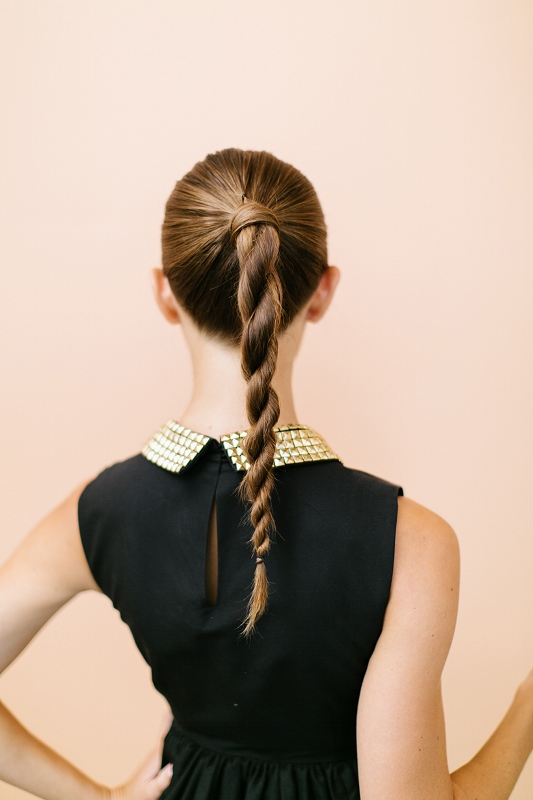 Sophisticated And Trendy DIY Twisted Ponytail To Try
