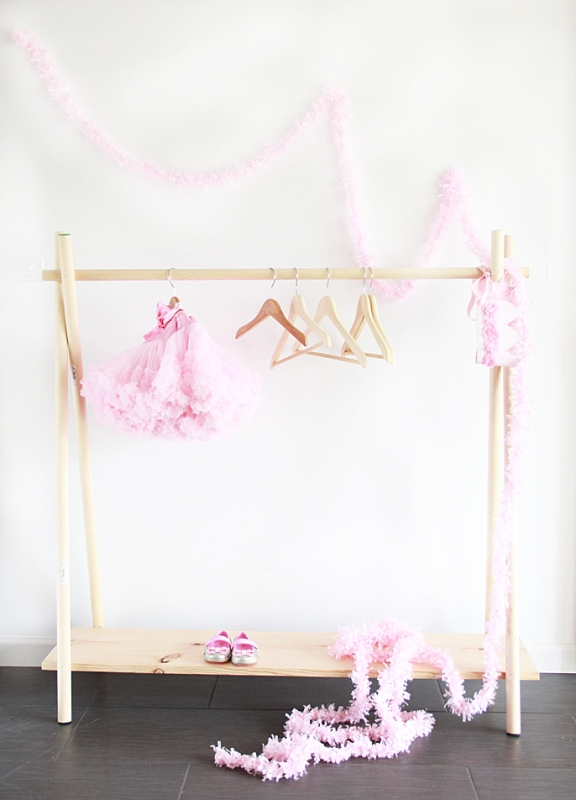 The Easiest DIY Wooden Clothing Rack To Make
