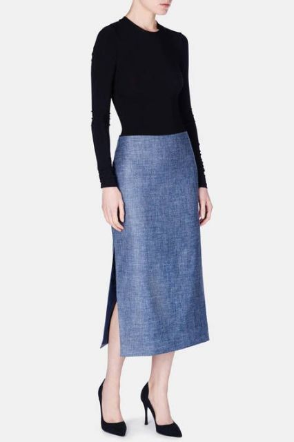 Picture Of Feminine Side Slit Skirt Ideas 13