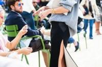 16 Feminine Side Slit Skirt Ideas 3