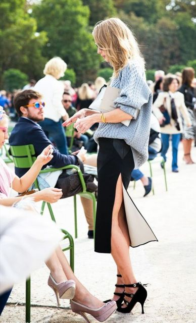 Feminine Side Slit Skirt Ideas To Try