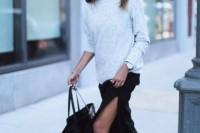 16 Feminine Side Slit Skirt Ideas 6