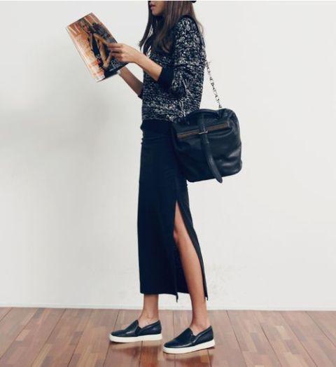 Feminine Side Slit Skirt Ideas