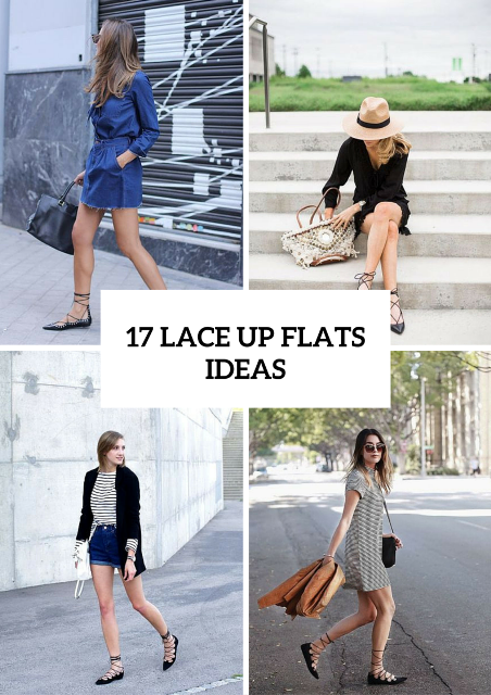 17 Outfit Ideas With Lace Up Flats For This Season