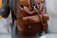 a large brown backpacks with many compartments is always a cool idea for a man or a woman