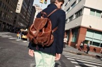 a brown faux leather backpack is a timeless idea that will match many outfits