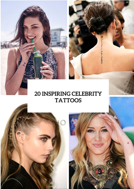 20 Unique Celebrity Women Tattoos To Get Inspired