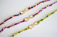 Colorful DIY Infinity Beaded Bracelet