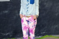 Colorful DIY Tie Dye Denim 10