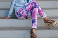 Colorful DIY Tie Dye Denim 8