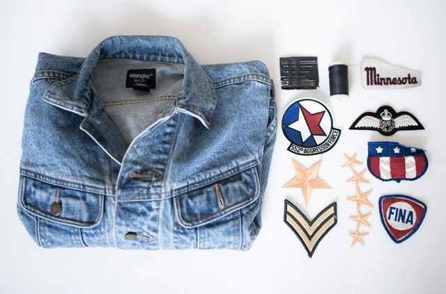 Picture Of Cool DIY Patched Denim Jacket 2