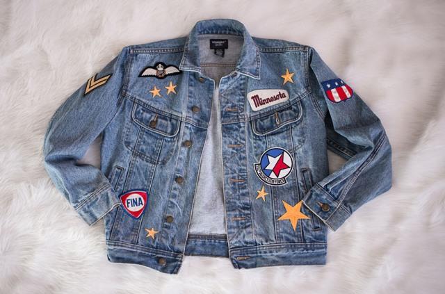 Cool DIY Patched Denim Jacket - Styleoholic