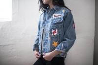 Cool DIY Patched Denim Jacket 7
