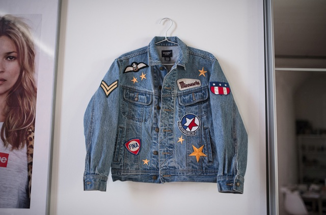 Cool DIY Patched Denim Jacket