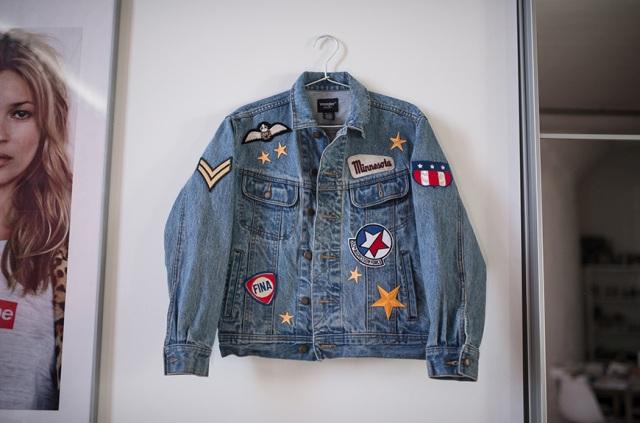 Cool DIY Patched Denim Jacket