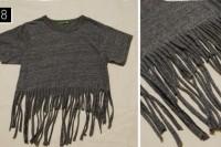Cozy DIY Fringe T-Shirt 10