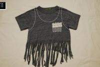 Cozy DIY Fringe T-Shirt 13