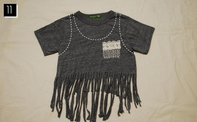 Cozy Boho Inspired DIY Fringe T Shirt