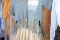 Cozy DIY Fringe T-Shirt