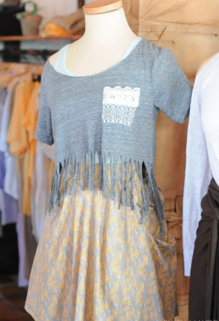 Cozy DIY Fringe T Shirt