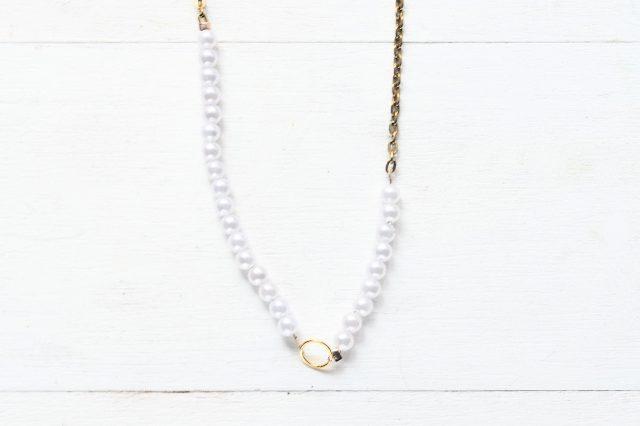 DIY Oversized Monogram Pearl Necklace