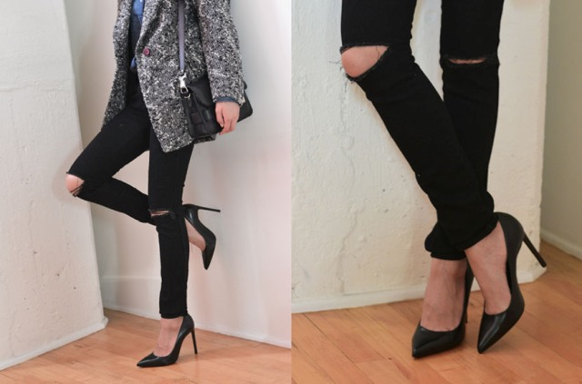 Easy To Make DIY Ripped Jeans From Skinnies