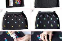 Eye-Catching DIY Embellished Skirt To Make 3