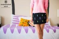 Eye-Catching DIY Embellished Skirt To Make 4
