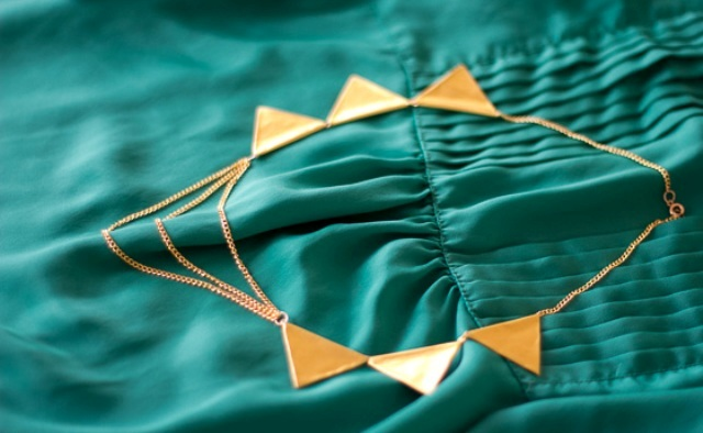 Picture Of Perfect DIY Gold Geometric Chain Necklace 4