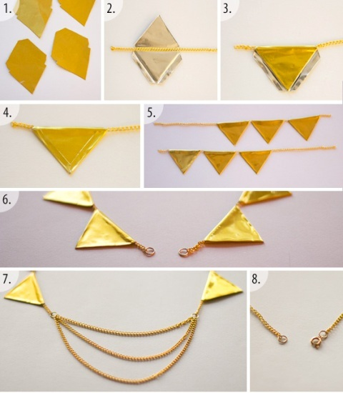 Picture Of Perfect DIY Gold Geometric Chain Necklace 5