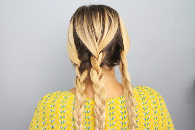 Picture Of Quick DIY Braided Updo For Ladies 4
