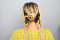 Quick DIY Braided Updo For Ladies 6